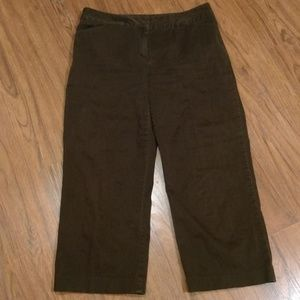 Nine & Company Capris Pants Brown Size 12